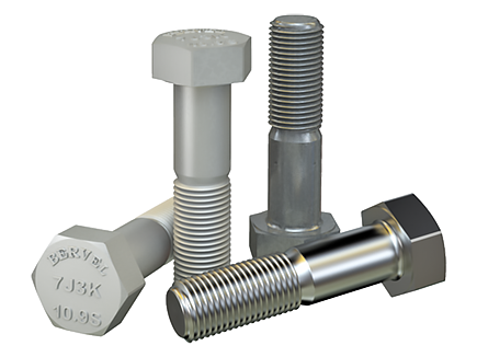 Hexagon bolt for high-strength structural bolting with large width across flats DIN EN 14399-3-2015 (DIN 6914), ISO 7411:1984